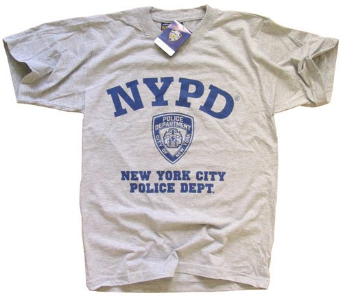 9553ea62f NYPD T-SHIRT Crewneck New York Police Department Athletic Gray S ...